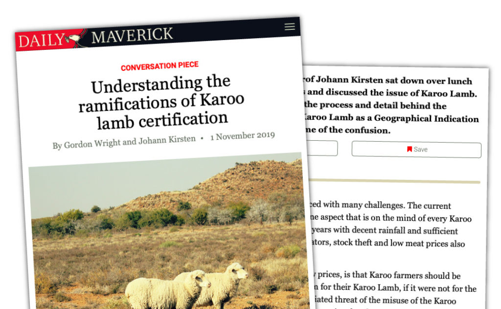 Understanding the ramifications of Karoo lamb certification